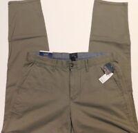 NWT GAP Men's Khaki Pants Slim Grey 34x33 MSRP$50 Free Shipping New