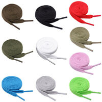 2X Polyester Flat Shoe Laces Shoelaces Shoestrings Sneaker Shoes Boot String NEW