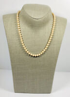 Vintage Faux Pearl Necklace Collar Length Sparkly Clasp Pretty Kitsch Costume