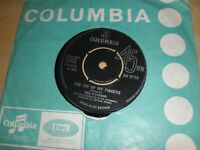 "Des O'Connor The Tip Of My Fingers 7"" Vinyl Single 1970 Columbia DB 8713 4-Prong"