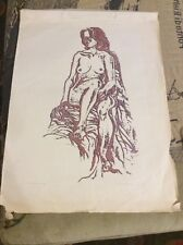 Vintage 1975 Print Artist Proof Nude Woman Signed Dated