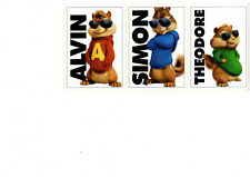 "Lot(3)2016 SI for Kids ""Movie Ad"" CHIPMUNK Cards, Alvin/Simon/Theodore-Road Chip"