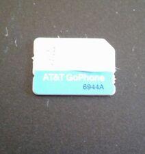 Brand New Prepaid At&T Go Phone Nano Size Sim Card 6944A