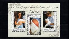 Samoa 2013 MNH Royal Baby Prince George 3v M/S Prince William Kate Middleton