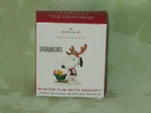 Hallmark 2020 WINTER FUN WITH SNOOPY  #23 in miniature series free shipping