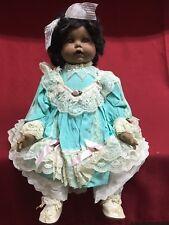 Vincent DeFilippo 172/2000 Black African American Art Porcelain Doll Blue Dress