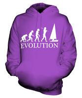 SAILING EVOLUTION OF MAN UNISEX HOODIE MENS WOMENS LADIES GIFT BOAT BOATING
