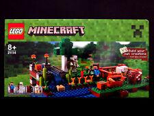 LEGO Minecraft The Farm 21114 Steve Skeleton Cow Sheep Waterfall Wheat Carrots