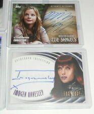 lot of 2 Walking Dead Autograph Card BRIGHTON SHARBINO + Imogen Annesley
