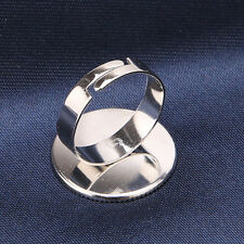 10pcs New Sale Adjustable Ring Base Blank Findings Fit Jewelry Outer Dia. 21mm L