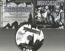 BRAVEHEARTS w/ NAS & LIL JON Quick to back down CLEAN & INSTRUMENTAL PROMO CD dj