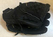 "Mizuno MMX-123P Youth 12"" Black Leather Baseball Softball Glove Right Hand Throw"