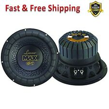 Car Sub Woofer Speaker 12 in Black Non Pressed Paper Cone Stamped Steel Basket