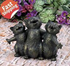 New listing Three Cat Statue Resin Figurine Home Sculpture Patio Garden Outdoor Decor Gift