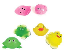 3 PACK SPLAT BALL PIG, DUCK, FROG SQUISHY SPLATS TOY STRESS RELIEVER GOODY BAG
