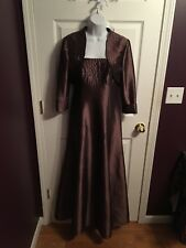 Cachet Mother of the Bride Groom Formal Dress Womens Size 4 Bronze Brown