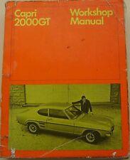 Ford Capri 2000 GT Original Workshop Manual 1968 Pub. No. CG 1410