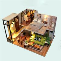 DIY Dollhouse 3D Wooden Miniature Furniture Toys Kit Girls Dream House Toy