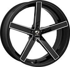 22 inch 22x8.5 Ravetti  Black Milled wheel rim 5x4.5 5x114.3 +38