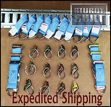 28pcs 16x E Track Tie Offs & 12x E Track Ring Truck f Cargo Van Trailer Tie Down