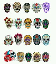 Day of The Dead Nail decals WATER DECALS sugar skulls Nail art decals