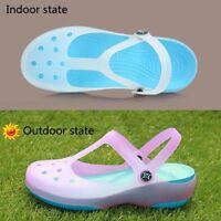 Womens Sandals Color Change Candy Shoes Summer  Beach Shoes Flat Sandals