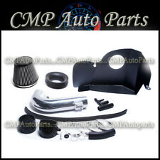 BLACK SILVER  AIR INTAKE  FIT 2015-2017 FORD MUSTANG GT 5.0 5.0 V8 HEAT SHIELD
