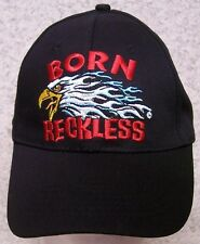 Embroidered Baseball Cap Motorcycle Born Reckless NEW 1 hat size fits all