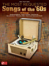 The Most Requested Songs Of The 60s Piano Vocal Guitar Book NEW!