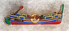 HARD ROCK CAFE MALTA TRADITIONAL COLORFUL BOAT WITH GREEN GUITAR PIN # 29966