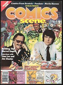 COMICS SCENE # 1 1981 FANZINE MAGAZINE STAN LEE JIM SHOOTER UNDERGROUND COMIX