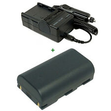Battery + Charger for SAMSUNG VP-DC161WB DVD SC-D372 SC-DC173U SC-D371 Camcorder