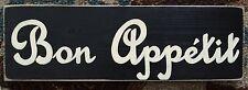 BON APPETIT Kitchen Paris Flea Market Chic FRENCH Sign WOOD Plaque U Pick Color!