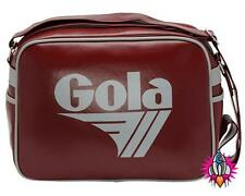 NEW GOLA REDFORD RED GREY VINTAGE SHOULDER SPORTS GYM SCHOOL BAG