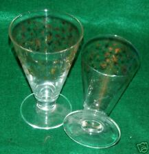 2- 22 KARAT GOLD RIMMED & EMBOSSED-NEW YEARS EVE CHAMPAGNE FLUTE GLASSES