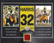 FRANCO HARRIS PITTSBURGH STEELERS 3 RIVERS STADIUM SEAT 8 X 10 COA