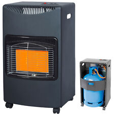 4.2KW CALOR GAS PORTABLE CABINET HEATER FIRE BUTANE WITH REGULATOR & HOSE DD1