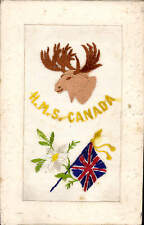WW1 Battleship Silk. HMS Canada. Moose.