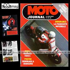 MOTO JOURNAL N°513 YAMAHA MIDNIGHT SPECIAL KAWASAKI 175 KDX GILLES BURGAT 1981