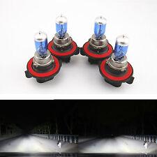 4 PCS SUPER WHITE XENON HID HEADLIGHT BULBS LOW/HIGH BEAM H13 9008 12V 65/55W