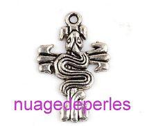 2 tête de mort croix love breloque pendentif lot bracelet collier gothique