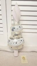 Patricia Breen You Top My List Music Note Glass Finial Tree Topper Ornament Rare
