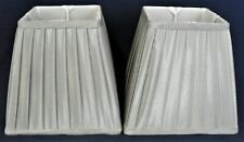 Pair GREY Pleated Table Lampshades