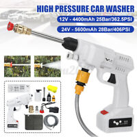 12V/24V Rechargeable High Pressure Car Washer Gun Water Jet Electric Spray Clean