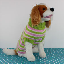 PRINTED CIRCULAR KNITTING PATTERN INSTRUCTIONS - DOG CANDY STRIPE SWEATER COAT