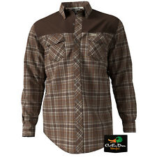 NEW BANDED GEAR SOFT SHELL PLAID FLANNEL LONG SLEEVE SHIRT BROWN 2XL