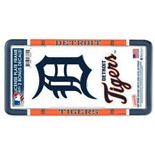 DETROIT TIGERS THIN RIM LICENSE PLATE FRAME WITH 2 DECALS NEW WINCRAFT ⚾ 🚗