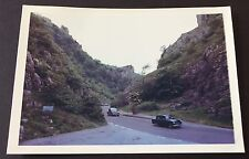 "CHEDDAR GORGE Vintage 1964 PHOTOGRAPH 5"" x 3.5"" SOMERSET Old Cars MENDIPS 408"