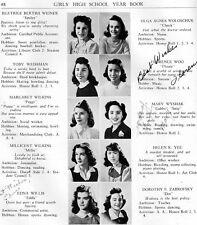 1941 Boston Massachusetts Girls High School Yearbook~Photos~History~Sports~WWII