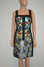 Peter Pilotto Black/Multicolor Floral/Crystals Sleeveless Dress Size UK 12/US 8